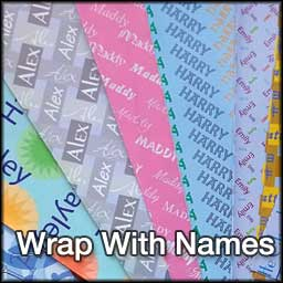 Wrapping paper designs featuring 120 names