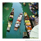 Floating market - Thailand H019 (size: 500x500mm)
