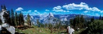 Yosemite panorama - USA P420 (sizes: 400x1200; 500x1500; 600x1800mm)