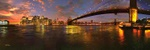 New York City at sunset - USA P432 (sizes: 400x1200; 500x1500; 600x1800mm)