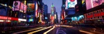 Times Square at night - USA P437 (sizes: 400x1200; 500x1500; 600x1800mm)